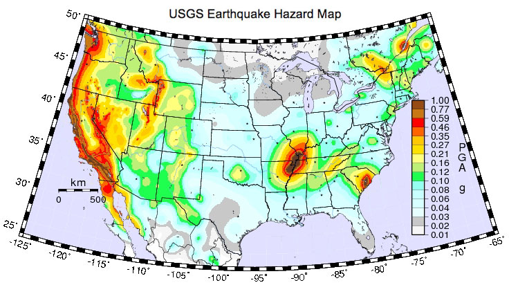 Seismic Hazard Maps Us - Us seismic hazard map