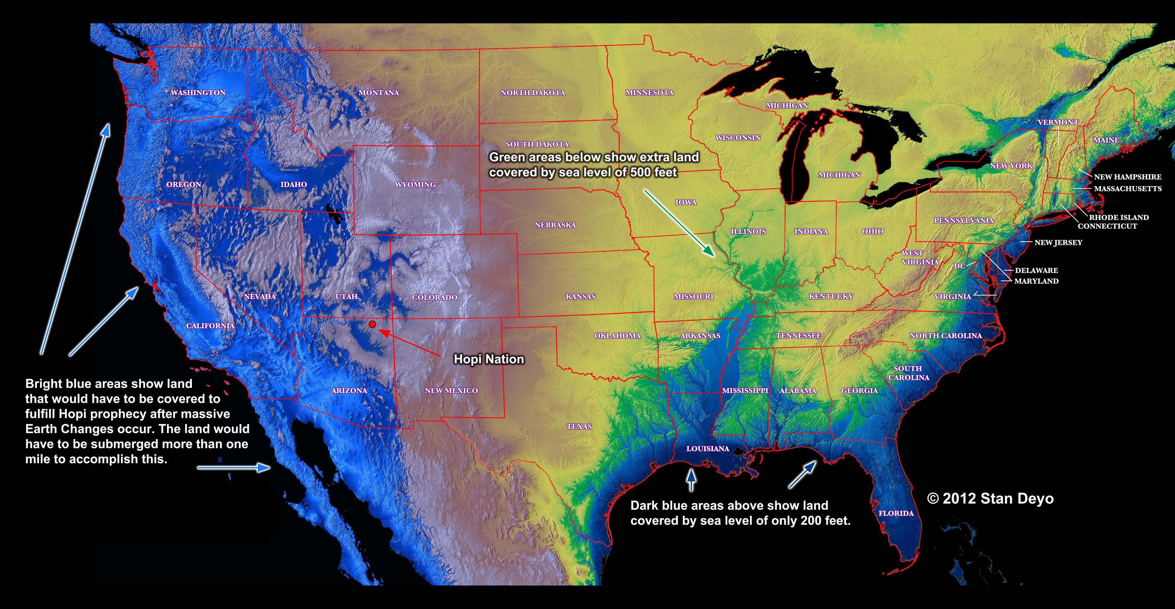 Possible Water Levels In USA During And After Massive Tectonic - Tectonic map us