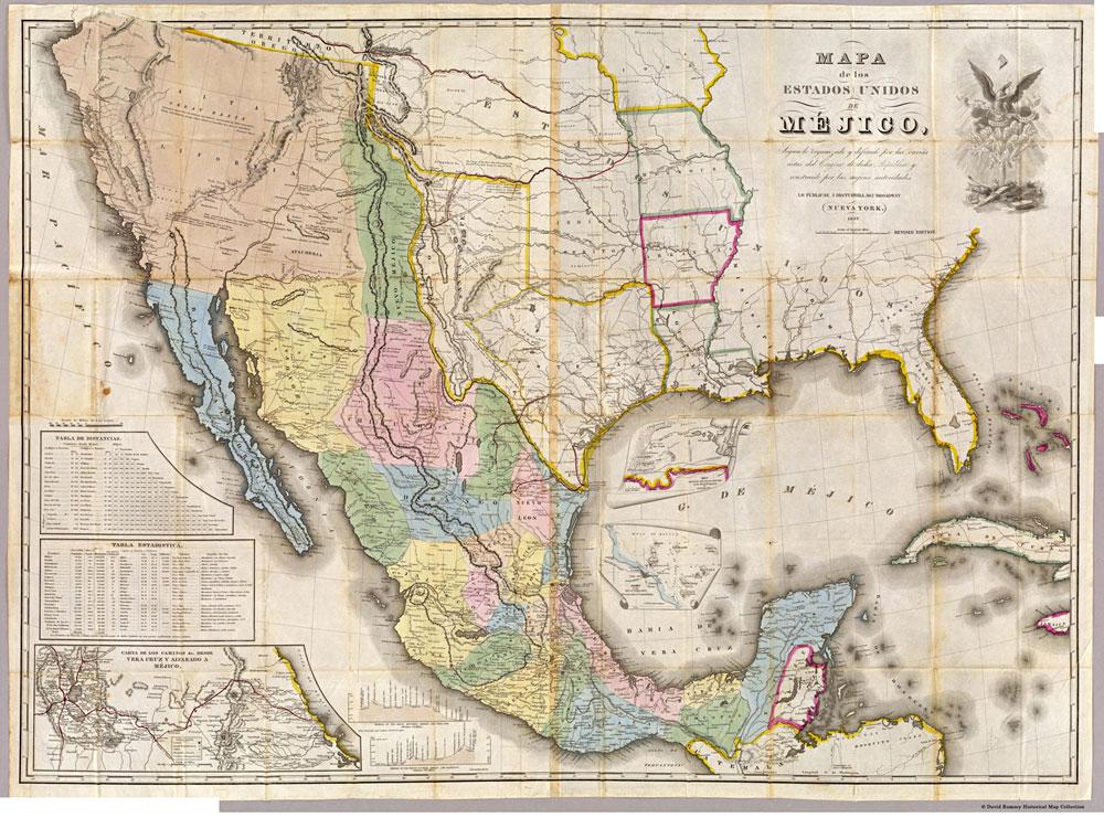 Map 1847 Disturnell's