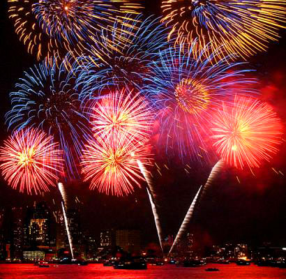 picture of fireworks display. special fireworks display